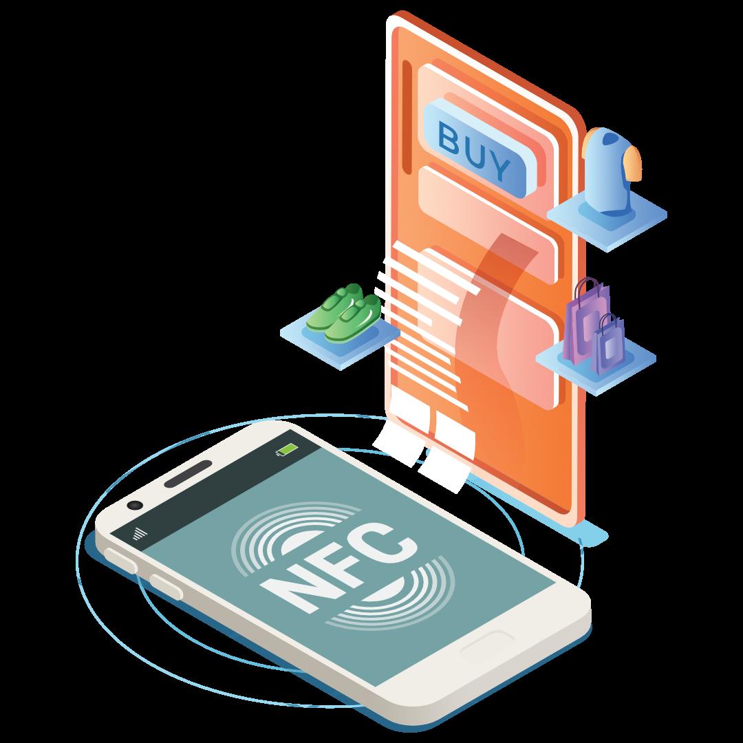 immagine disegno di servizi nfc rfid