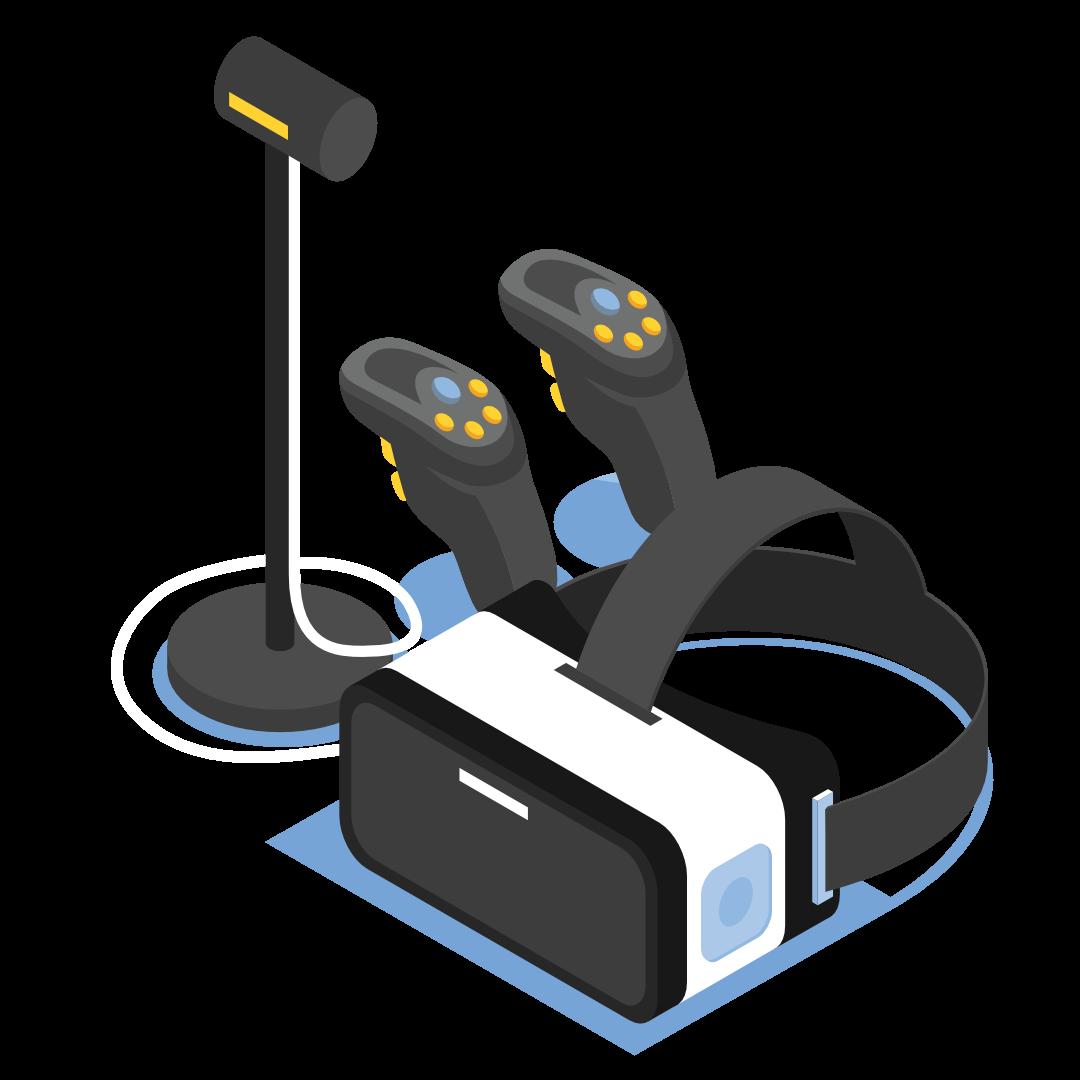 immagine disegno di servizio di realtà aumentata